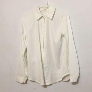 Tops - Plain white button down shirt